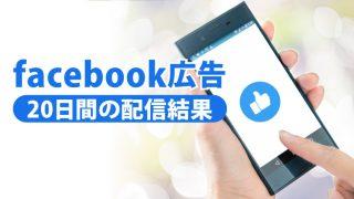 Facebook広告20日間の配信結果
